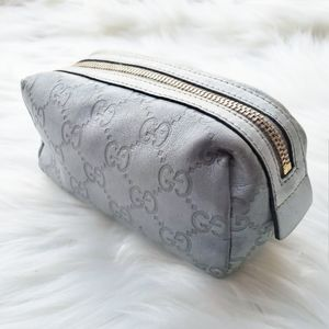 Gucci Silver Pouch Cosmetic Case